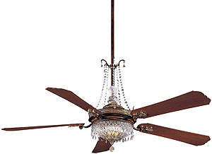 Cristafano 68 Quot Deluxe Crystal Ceiling Fan With Dark Walnut