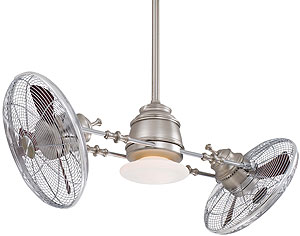 Twin Ceiling Fans: Vintage Gyro 42