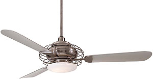Acero 52 Quot Ceiling Fan In Brushed Steel With Silver Finish