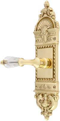 European Door Set With Crystal Glass Lever Handles | House of ...
