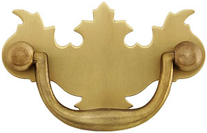 Chippendale Brass Bail Pull In Antique By Hand 2 Center