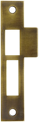 6 Quot Solid Brass Mortise Strike Plate In Antique By Hand