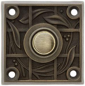 Solid Brass Vine Amp Trellis Pattern Doorbell Button In