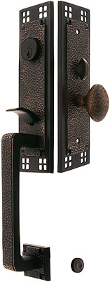 Craftsman Style Mortise Handleset With Choice Of Interior Knob Or ...