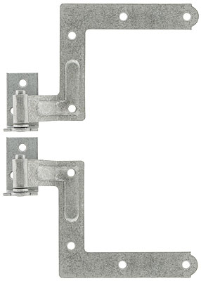 Pair Of Galvanized L Shaped Shutter Hinges With 2 Quot Offset