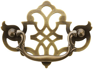 Chippendale Pierced Brass Bail Pull 3 Quot Center To Center