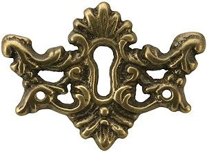 Decorative Solid Brass Keyhole Cover In Antique By Hand