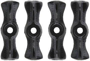 Set Of 4 Long Cast Iron Utility Turn Buttons House Of
