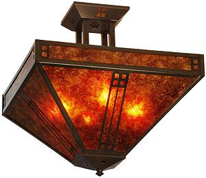 Prairie Semi Flush Ceiling Light In Bronze Finish House