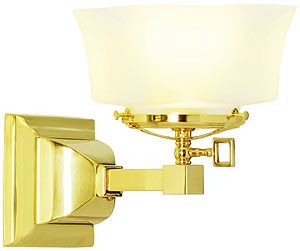 Mission Style Single Gas Sconce With 4
