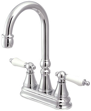 Bar Harbor Centerset Bar Faucet With White Porcelain