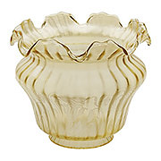 Vianne Amber Color Satin Etched Floral Shade with 4