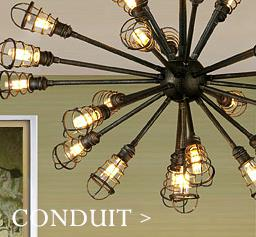 Conduit artsy chandelier