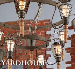 Yardhouse industrial chandelier