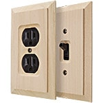 Alder Wood Switch Plate Covers