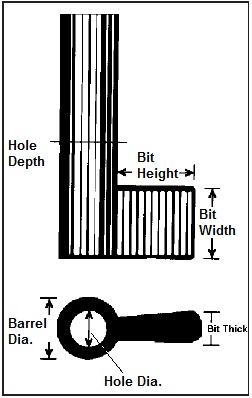 Dimensions of a Barrel Key