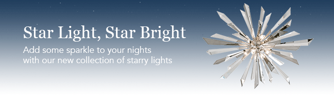 Add some sparkle to your life with our new collection of starry lights