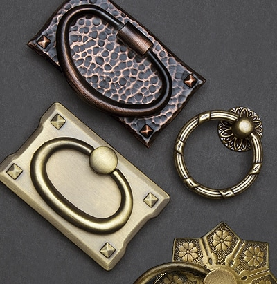 Ring pulls in various styles