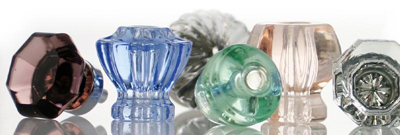 Glass knobs come in many shapes, sizes and colors