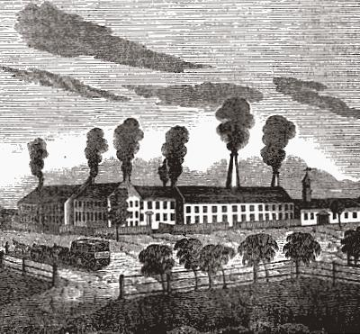 1820s glass factory in Sandwich, Massachusetts