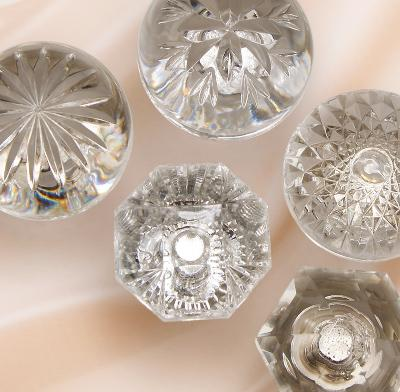 Our late 19th Century style knobs are reproduced in lead-free crystal