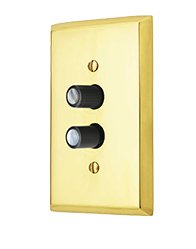 Traditional Single Gang Push Button Switch Plate