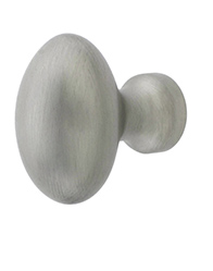 Solid Brass Oval Cabinet Knob
