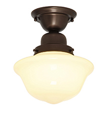 Solid Brass Schoolhouse Light