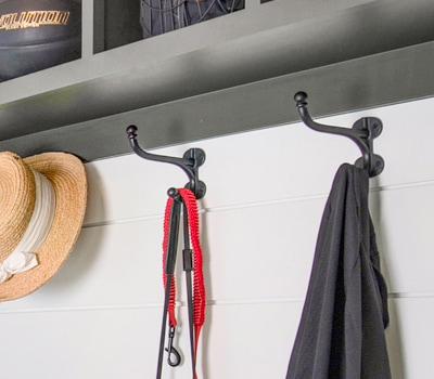 Easy Ways to Get Organized with Decorative Hooks.
