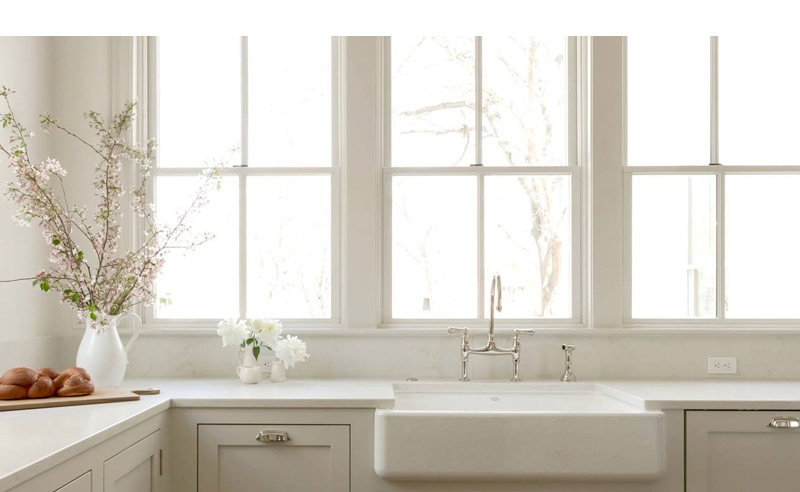 kitchen sink faucets and window hardware