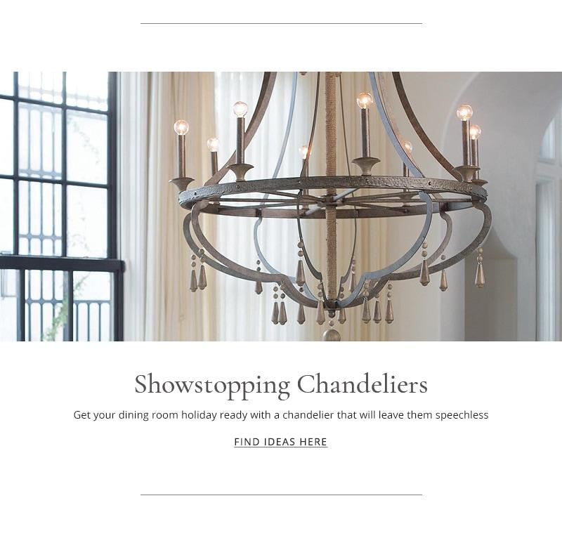 Get your dining room holiday-ready with a chandelier that will leave them speechless.