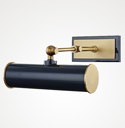 Holly wall-mounted picture light in Navy
