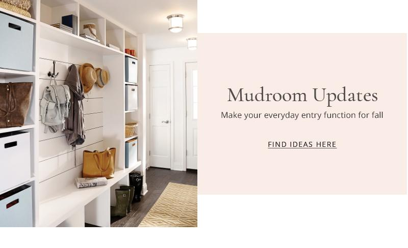 Mudroom Updates - make your everyday entry function for all - find ideas here.