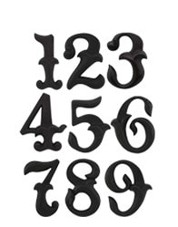 Romantic House Numbers